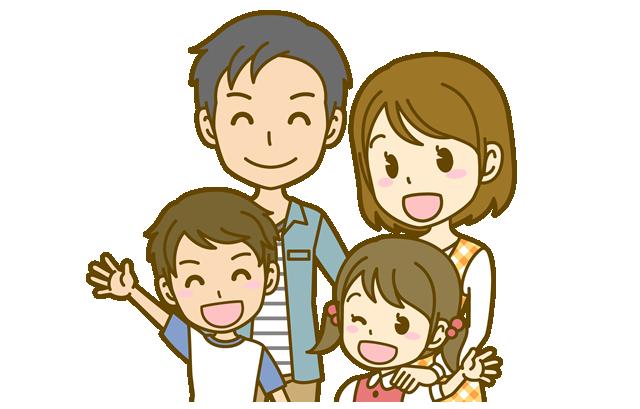 若い夫婦と子供