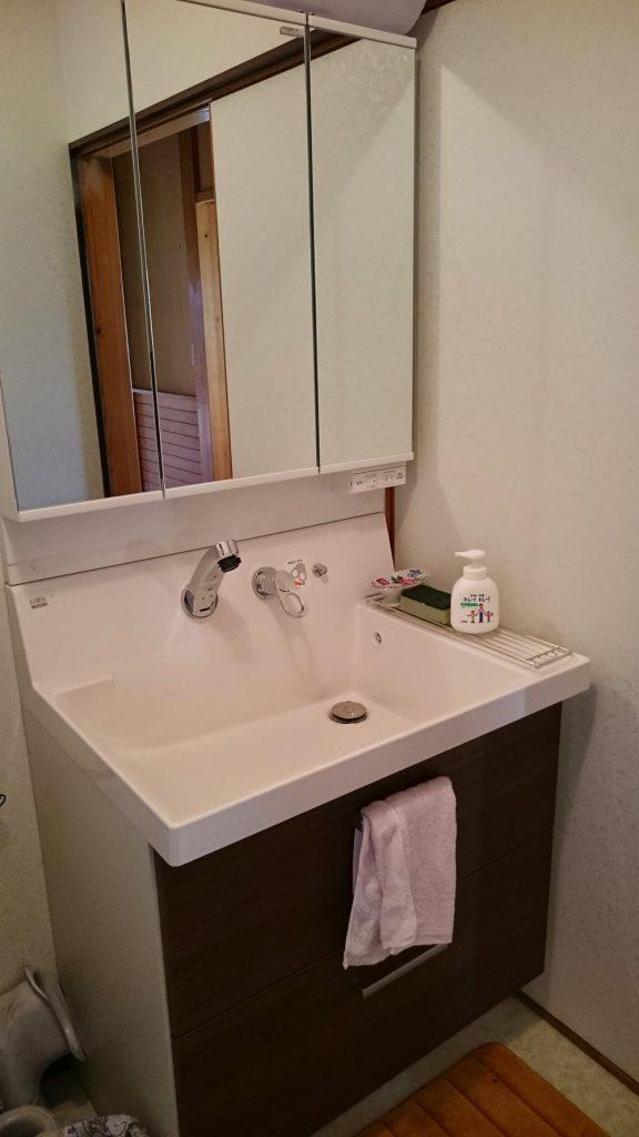 洗面化粧台リフォーム
